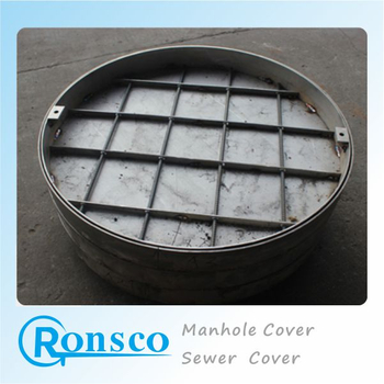 Round Septic Water Tank Sanitary Sewer Covers Custom Sizes Decorative Stainless Steel Manhole Cover
