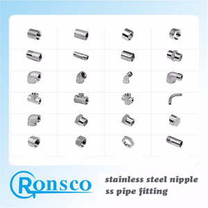 Hose Seamless Welded Connector Fittings Stainless Steel Pipe Nipple